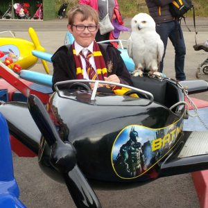 A new mode of transportfor young 'Harry'